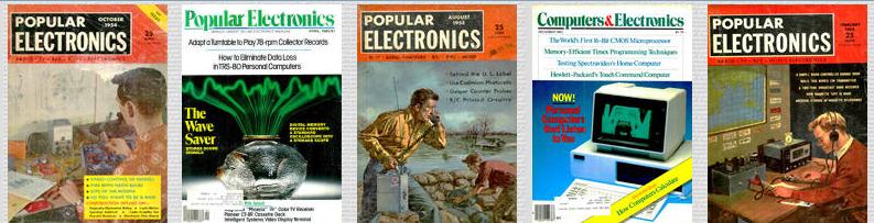 couvertures de popular electronics magazine d electronique - Popular Electronics: le bricolage électronique de 1954 à 2003