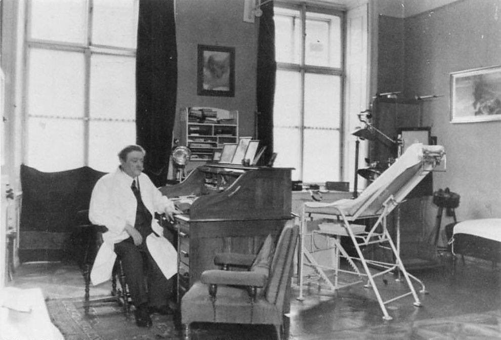 "a photo of eduad bloch in his office in 1938 he was the jewish physician of the hitler family and was called a noble jew by hitler who was under his personal protection - A photo of Eduad Bloch in his office in 1938. He was the Jewish physician of the Hitler family and was called a ""noble Jew"" by Hitler who was under his personal protection."