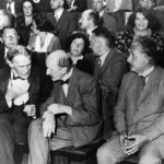 july 28 1931 albert einstein seats in the front row of a session of physical society in berlin along with robert williams wood and max planck 150x150 - 22 moments étonnants de l'histoire en photos