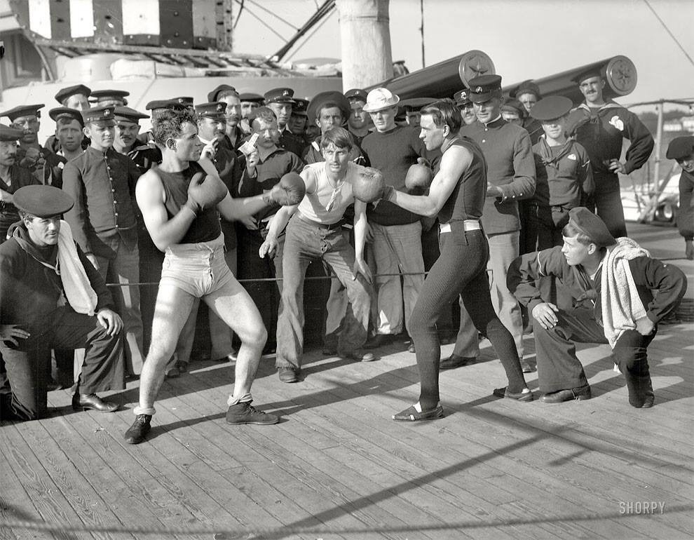 july 3 1899 a boxing match takes place aboard the u s s - July 3, 1899 – A boxing match takes place aboard the U.S.S.