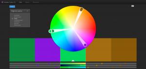 Roue chromatique Modèles de couleurs Adobe Color CC 300x142 - 5 outils de création de palettes de couleurs pour le Web design